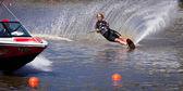 Melbourne, avustralya - 12 mart: breanne dodd moomba masters slalom event'de içinde kanada — Stok fotoğraf