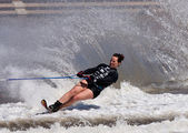 MELBOURNE, AUSTRALIA - MARCH 12: Karen Truelove of the USA in the slalom event at the Moomba Masters — Stock Photo