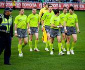 Collingwood's win over Fremantle on June 30, 2012 in Melbourne, Australia. — Stock Photo