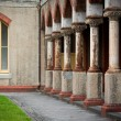Stock Photo: Pillars at old convent
