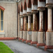 Pillars at old convent — Stock Photo