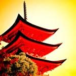 Five-storey pagoda in Miyajima, Japan — Stock Photo