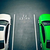Valet car parking space at airport — Stock Photo