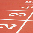 Numbered lanes on a running track — Stock Photo #29484805