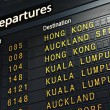 Stock Photo: Airport Departure Board
