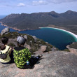 View of Wineglass Bay from Mt Amos, Freycinet National Park Tasmania — Stock Photo #29487191