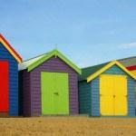 baignade des boîtes à la plage de brighton — Photo