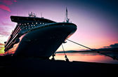 Cruise ship at Sunrise — Stock Photo