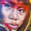 MELBOURNE - JUNE 29: Street art by unidentified artist. Melbourn — Foto Stock