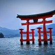 Torii gate at Miyajima, near Hiroshima - Japan — Stock Photo #30104093