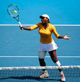 MELBOURNE, AUSTRALIA - JANUARY 26: Serena Williams on her way to the women's singles final of the 2010 Australian Open — Stock Photo