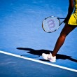 MELBOURNE, AUSTRALIA - JANUARY 23: Serena Williams during her third round match against Carla Suarez Navarroof Spain during the 2010 Australian Open — Stock Photo