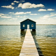 Stock Photo: Boatshed on SwRiver - Perth