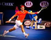MELBOURNE, AUSTRALIA - JANUARY 22: Rafael Nadal of Spain in his win over Phillipp Kohlschreiber in the 2010 Australian Open — Foto Stock