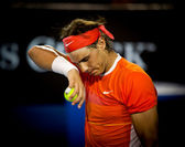 MELBOURNE, AUSTRALIA - JANUARY 22: Rafael Nadal of Spain in his win over Phillipp Kohlschreiber in the 2010 Australian Open — Stock Photo