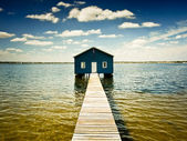 Boatshed on the Swan River - Perth — Stock Photo