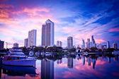Surfers Paradise Skyline at Dawn — Foto de Stock