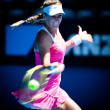 MELBOURNE - JANUARY 23: Victoria Azarenka of Belarus in her fourth round Loss to Li Na of Chinaa in the 2011 Australian Open — Stock Photo