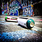 MELBOURNE - FEB 9: Street art by unidentified artist. Melbourne's graffiti management plan recognises the importance of street art in a vibrant urban culture — Stock Photo