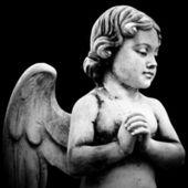 Linda escultura em um cemitério de melbourne — Foto Stock