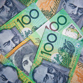 Australian 100 dollar bills — Stock Photo