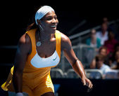 MELBOURNE, AUSTRALIA - JANUARY 23: Serena Williams during her third round match against Carla Suarez Navarroof Spain — Stock Photo