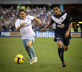 MELBOURNE - MARCH 20: Players in action in the Sydney FC A-Leagu — Stock Photo