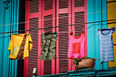 Colourful houses at La Boca — Stock Photo