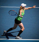 MELBOURNE - JANUARY 26: Bethanie Mattek-Sands in a doubles match — Stock Photo