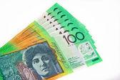 Notas de 100 dólares australianos — Foto de Stock