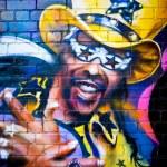MELBOURNE - SEPT 11: Street art by unidentified artist. Melbourn — Stock Photo
