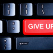 Red Give Up button on a computer keyboard — Stock Photo