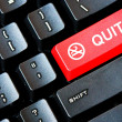 Stock Photo: Red QUIT SMOKING button on computer keyboard