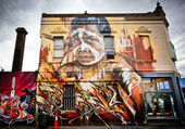 MELBOURNE - OCT 25: Street art by unidentified artist. Melbourne — Stock Photo