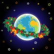 Christmas Earth - Stock Vector