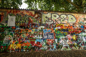 John Lennon Wall — Stock Photo