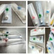 Stock Photo: Catheter intravenous, collage