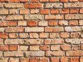 ściana z cegieł ubóstwienie — Zdjęcie stockowe