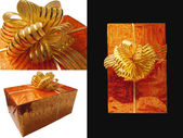 Collage, gift wrapping — Stock Photo
