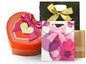 Gift packaging, boxes and packages — Stock Photo