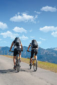 Bicycle tourism and all things related — Stock Photo
