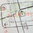 Royalty-Free Stock Photo: Immigration stamps on passport page