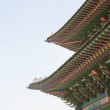Close up roof of Korean Buddhistic temple ornaments — Stock Photo #45321961