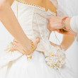 Bride dress preparation for the wedding — Stock Photo #45322219
