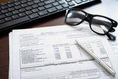 Belastingformulier — Stockfoto