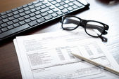 Tax form on the table — Zdjęcie stockowe