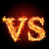 Letters  in fire - Letters VS — Stock Photo
