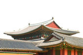 Korean old buildings from outside and inside — Stock Photo