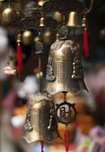Traditional asian bells at the market place. — Stock Photo