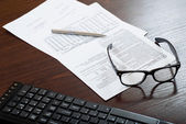 Financial world with business — Stock Photo